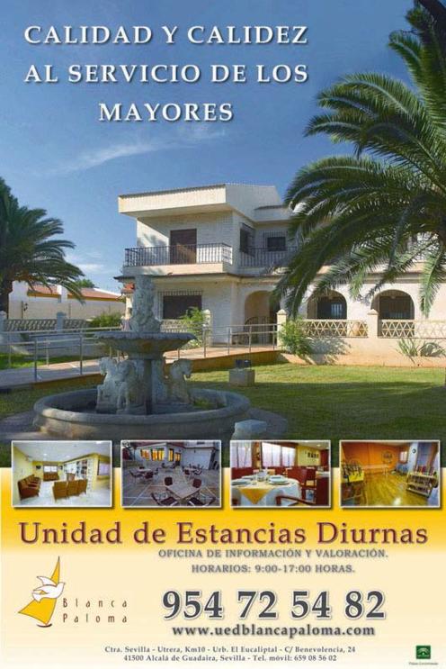 Cartel Residencia Blanca Paloma